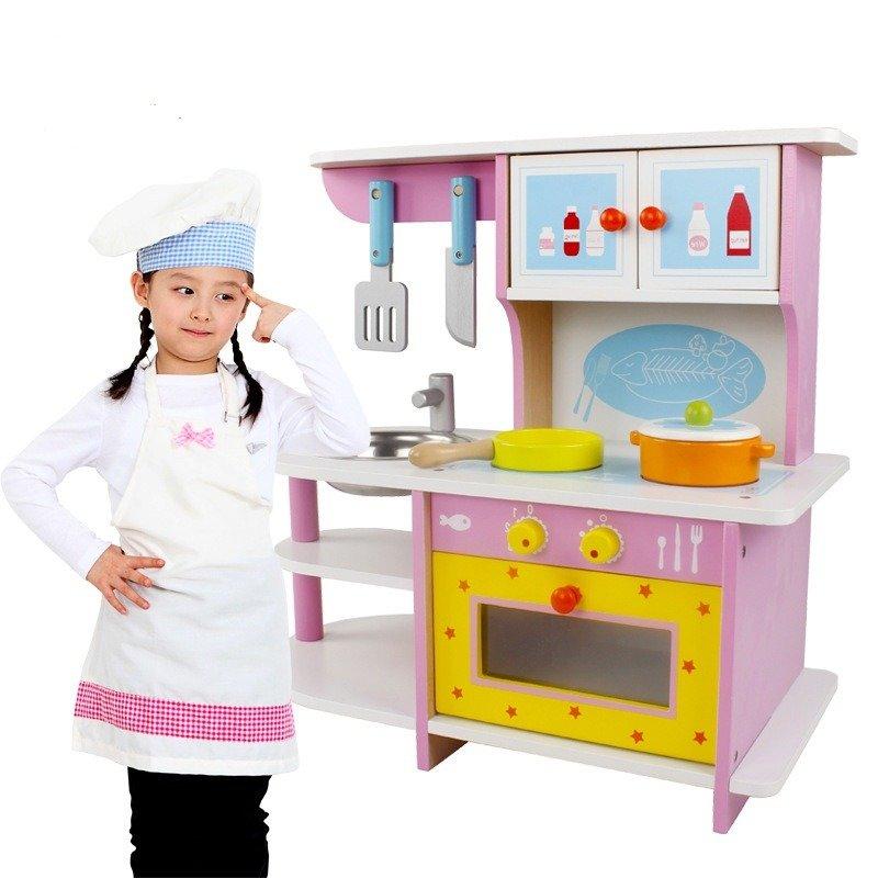 Drewniana Kuchnia Dla Dzieci Zlew Dodatki
