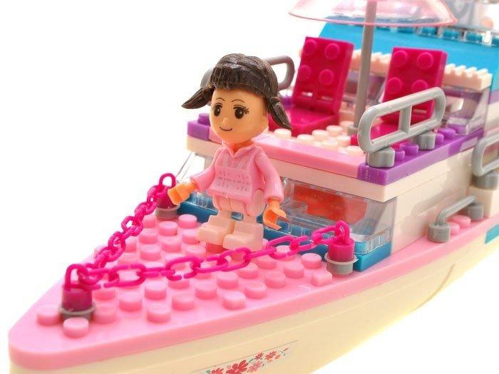 Zestaw Klocki Statek Jacht 300 El Dla Dziewczynek Zabawki Klocki